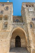 cathedral of Evora in Portugal - stock photo
