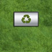 Stock Illustration of recycle somputer monitors concept with grass texture