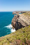 Saint Vincent cape, Sagres, Algarve, Portugal - stock photo