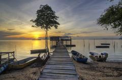 Tanjung Langsat, Pasir Gudang Johore Stock Photos