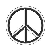 Peace sign. Hippie symbol of peace Stock Illustration