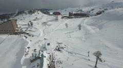 Winter in Bolu Kartalkaya / Turkey Stock Footage