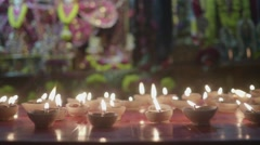 Hare Krishna temple from inside Stock Footage
