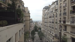 Paris Street Urban Architecture Neighborhood Buildings Aerial View City View Stock Footage