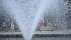 Fountain Splashing Water in 50 fps Stock Footage