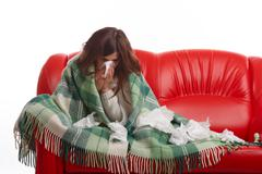 Young sick woman Stock Photos