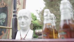 Brain Tonic at a Carnival - Craft Medicine and Holistic Antique Remedy - stock footage