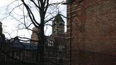 Oxford University brick campus, Oxford, England, Europe Arkistovideo