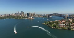 Sydney Harbour Drone  Stock Footage