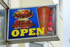 Fast Food Outlet Sign - stock photo
