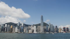 Beautiful panorama of Hong Kong  time-lapse Stock Footage