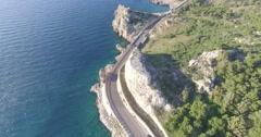 LIDO CONCHIGLIE (SALENTO) / Coastal Road / Aerial Footage - Riprese Aeree // 4K - stock footage