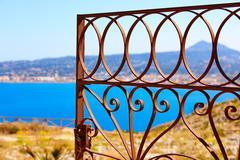 Javea Mediterranean fence in San Antonio Cape - stock photo