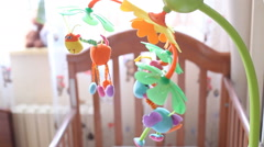 Stock Video Footage of CHILD'S BEDROOM, HOUSE, CHILE - A detailed close-up shot of a mobile