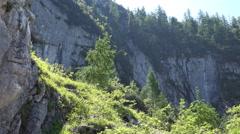 4k Austria alps mountains nature panorama Stock Footage