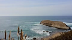 The Pacific Ocean at Davenport, from Highway One Stock Footage