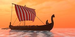Viking Longship Ventures Stock Illustration