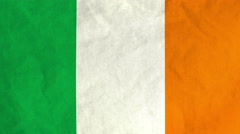 Irish flag waving in the wind (full frame footage) Stock Footage