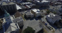 Athens City Aerial Downtown City Hall Stock Footage