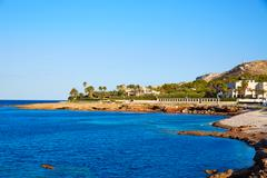 Denia Las Rotas Punta Negra beach in Alicante - stock photo