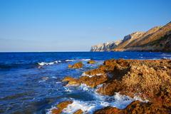 Las Rotas beach in Denia Alicante - stock photo