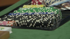 Casino tokens coins poker Stock Footage