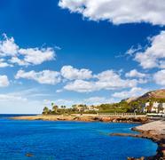 Denia Las Rotas Punta Negra beach in Alicante Stock Photos