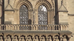 Notre-Dame Cathedral Catholic Symbol Paris Sightseeing Gothic Architecture Stock Footage