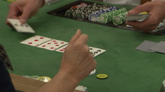 Stock Video Footage of casino croupier playing cards