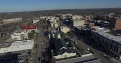 Athens Aerial City Rooftops Ascend Pan Down - stock footage