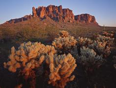 Superstition Mountains, Arizona - stock photo