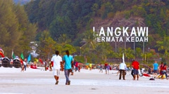 Langkawi the Jewel of Kedah in Malay: Langkawi Permata Kedah Stock Footage