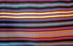 Aragon typical blanket with stripes arab heritage Stock Photos