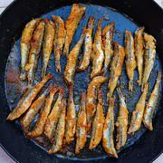 Boquerones fritos Mediterranean fried anchovies Stock Photos