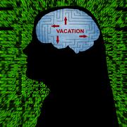 Vacation in mind - stock photo