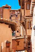 Albarracin medieval town at Teruel Spain - stock photo