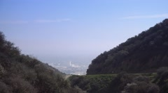Runyon Canyon Establishing Shot  	 Stock Footage