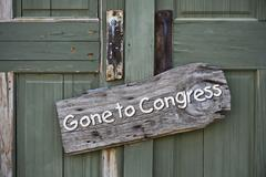 Gone to Congress. Stock Photos