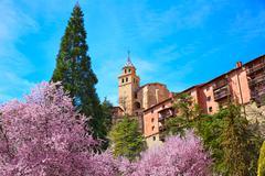 Albarracin medieval town in Teruel world heritage - stock photo