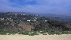 Establishing Shot of Runyon Canyon State Park  	 Stock Footage
