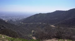Daytime Establishing Shot Runyon Canyon  	 Stock Footage