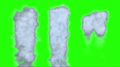 Diferent foam to falls in special effects - stock footage