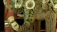 Festival of Chinese lanterns Milan - stock footage