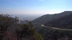 Wide Establishing Shot of Runyon Canyon  	 Stock Footage