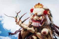 Rangda - traditional Balinese demon ogoh-ogoh - stock photo