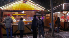 At the Christmas market in Frankfurt Stock Footage