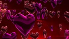 3D animation of sweet heart background in love wedding anniversary or valentine - stock footage
