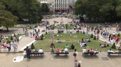 Time Lapse View Louise Michel Square Promenade Day Tourist Entertainment Place Stock Footage
