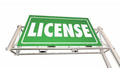 Get Your Drivers License Freeway Signs Car Truck - stock footage