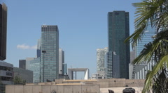 La Defense District Corporation Business Place Modern Architecture Buildings Stock Footage